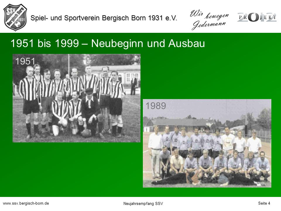 1951 bis 1999 – Neubeginn und Ausbau