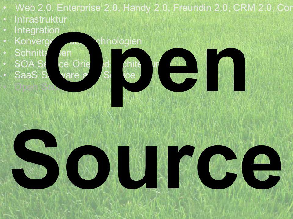 Web 2.0, Enterprise 2.0, Handy 2.0, Freundin 2.0, CRM 2.0, Com