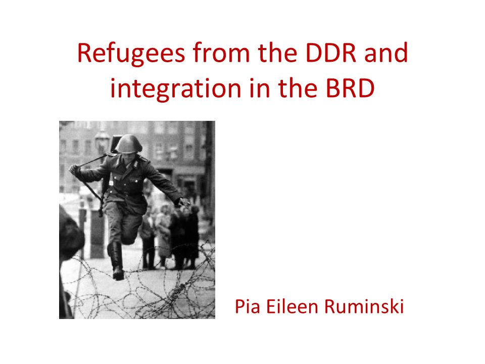 Refugees from the DDR and integration in the BRD