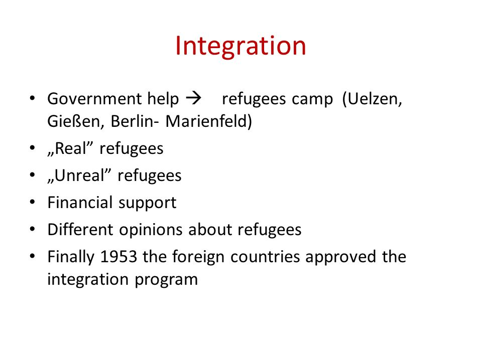 "Integration Government help  refugees camp (Uelzen, Gießen, Berlin- Marienfeld) ""Real refugees."