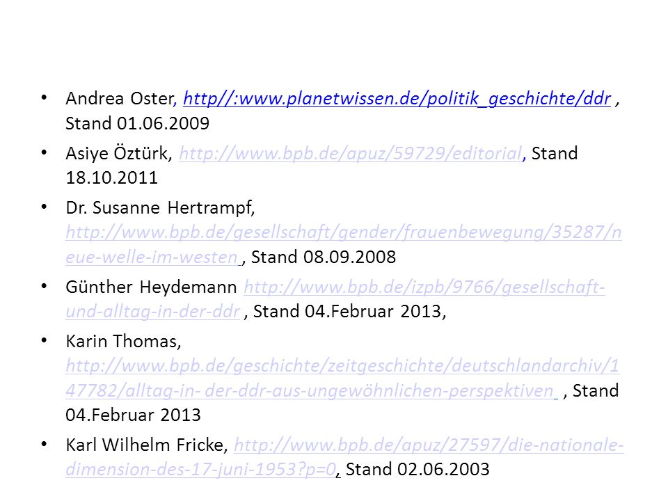 Andrea Oster, http//:www. planetwissen