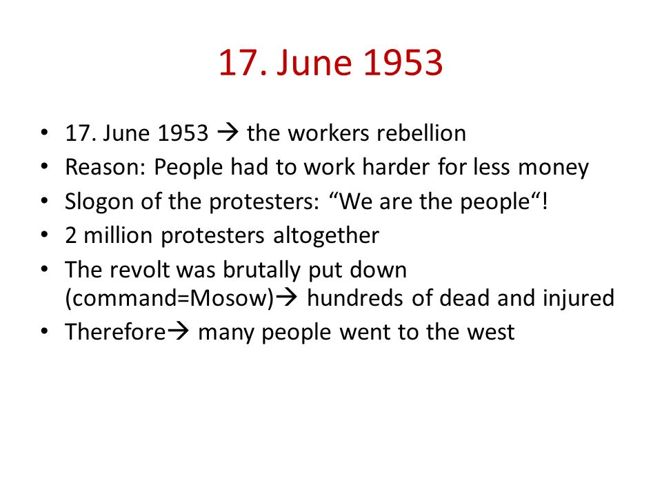 17. June 1953 17. June 1953  the workers rebellion