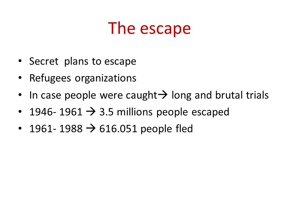 The escape Secret plans to escape Refugees organizations