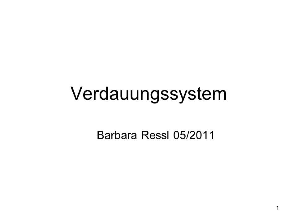 Verdauungssystem Barbara Ressl 05/2011