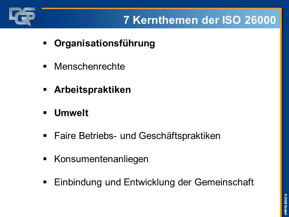 7 Kernthemen der ISO 26000 Organisationsführung Menschenrechte