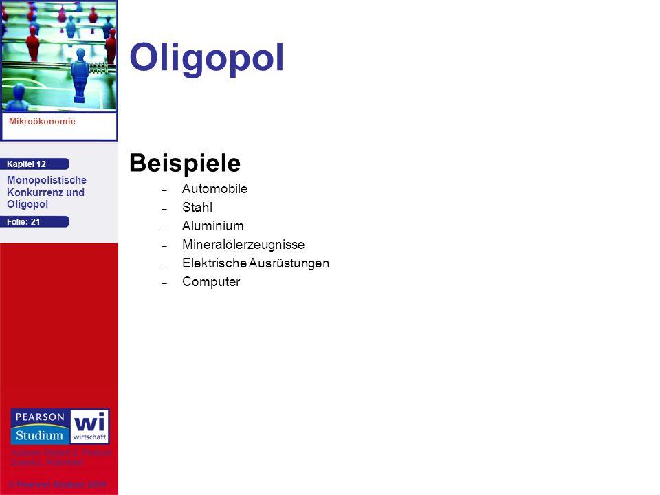 Oligopol Beispiele Automobile Stahl Aluminium Mineralölerzeugnisse
