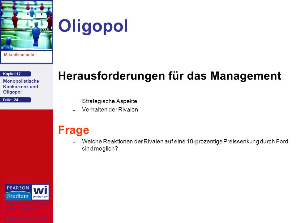 Oligopol Herausforderungen für das Management Frage