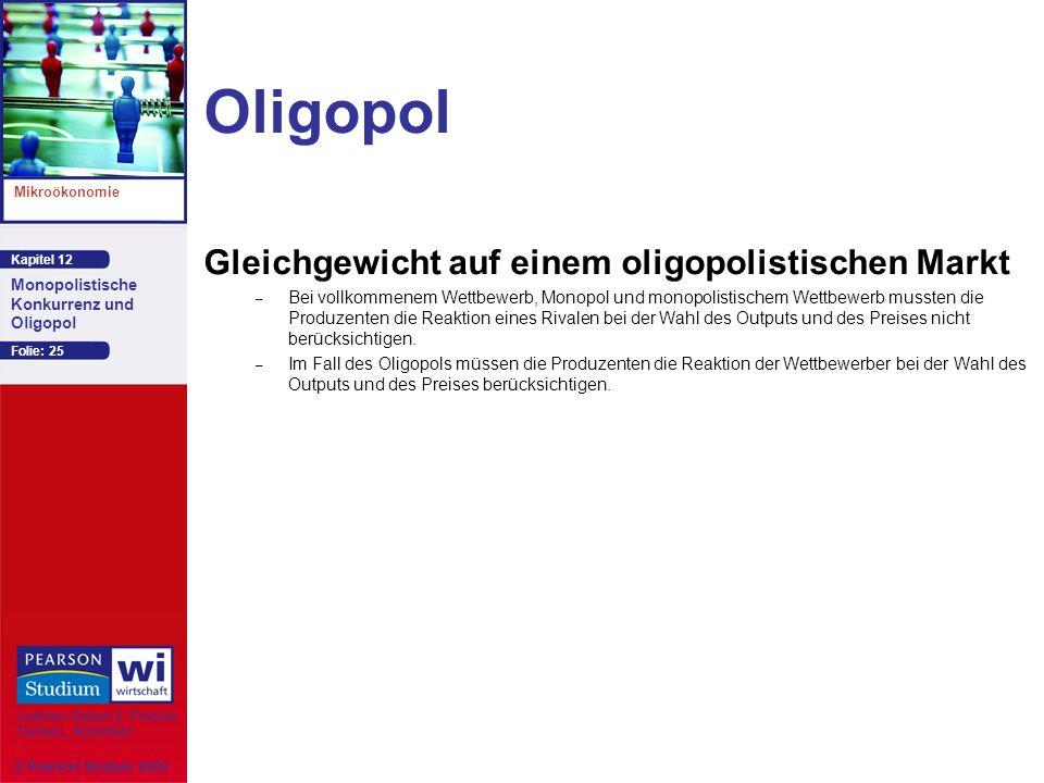 Oligopol Gleichgewicht auf einem oligopolistischen Markt