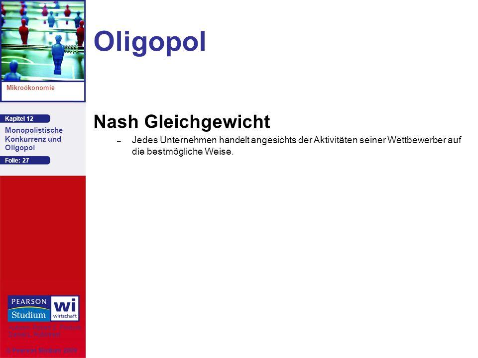 Oligopol Nash Gleichgewicht