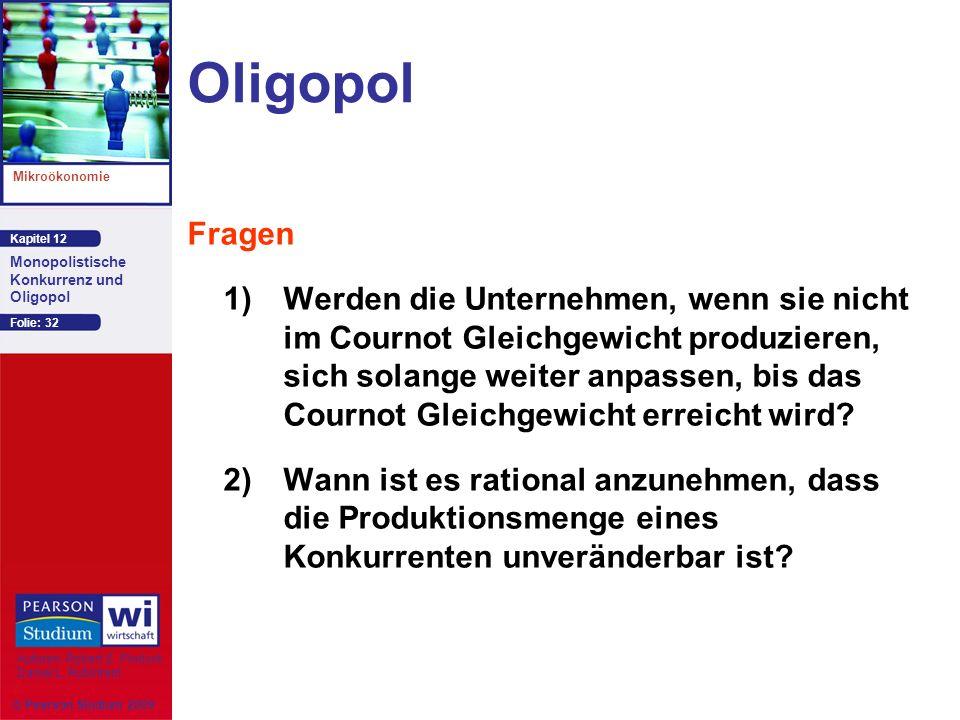 Oligopol Fragen.