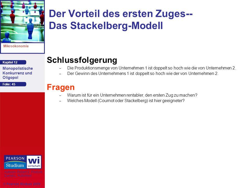 Der Vorteil des ersten Zuges-- Das Stackelberg-Modell