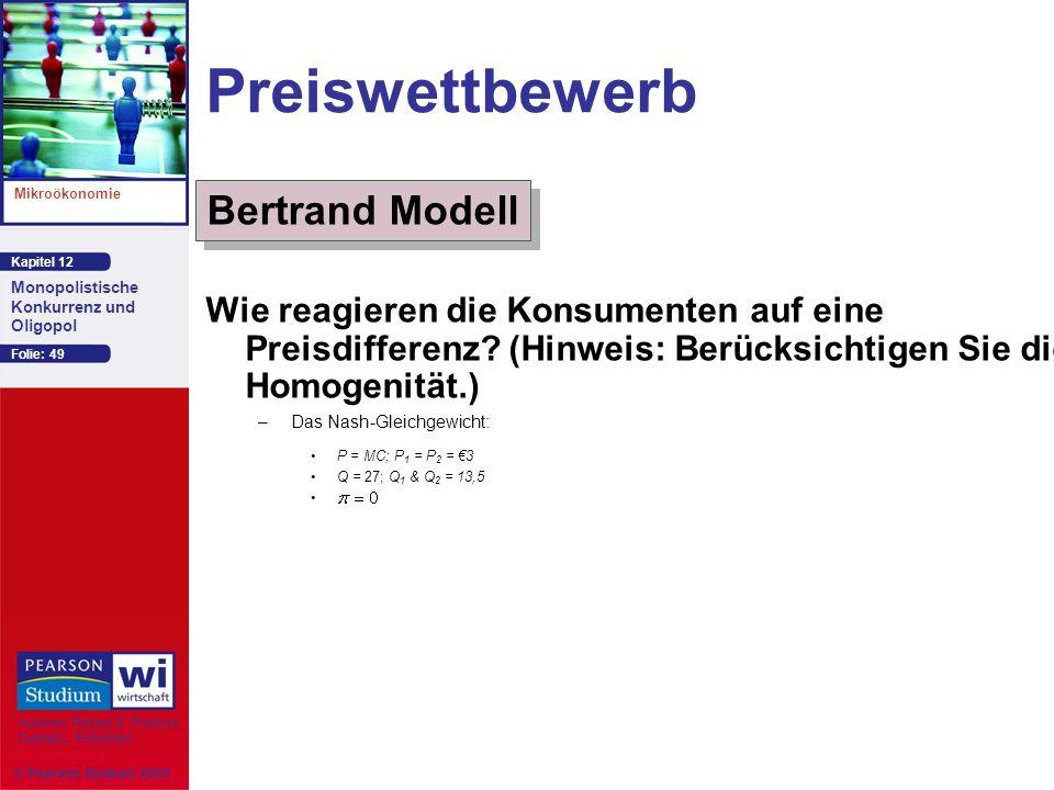 Preiswettbewerb Bertrand Modell