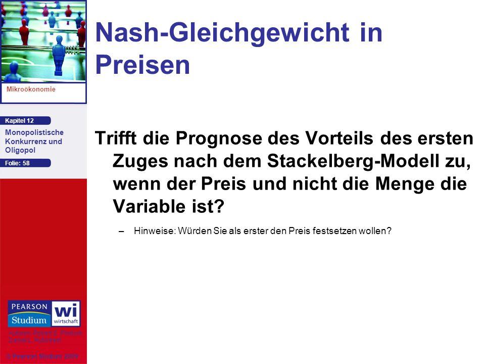 Nash-Gleichgewicht in Preisen