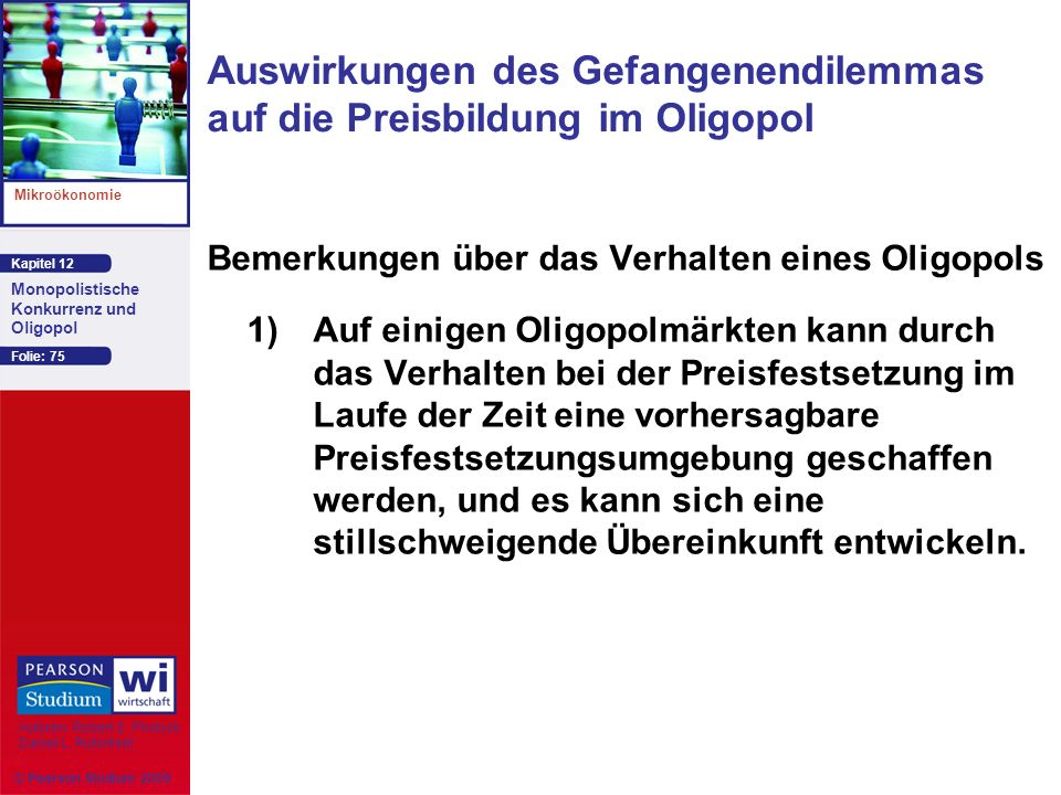 Auswirkungen des Gefangenendilemmas auf die Preisbildung im Oligopol