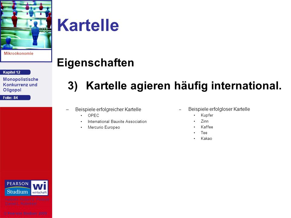 Kartelle Eigenschaften 3) Kartelle agieren häufig international.