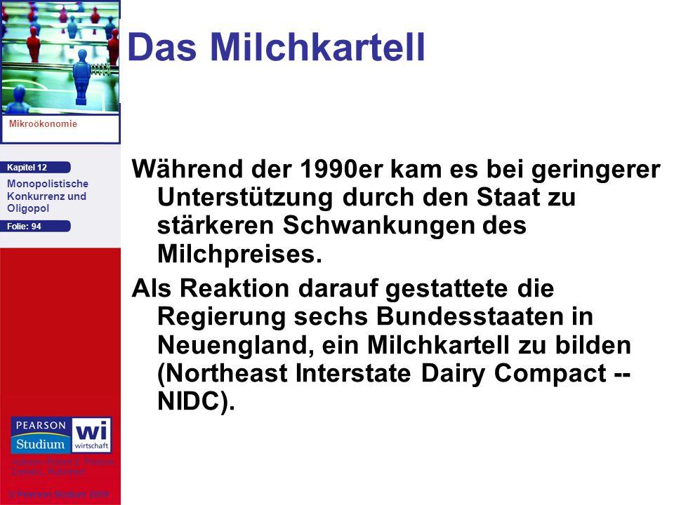 Das Milchkartell Während der 1990er kam es bei geringerer Unterstützung durch den Staat zu stärkeren Schwankungen des Milchpreises.