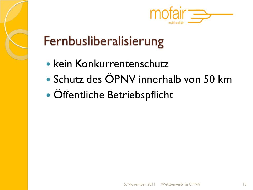 Fernbusliberalisierung