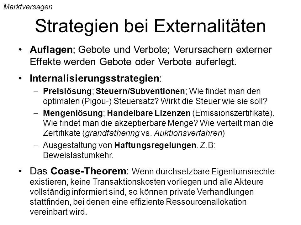 Strategien bei Externalitäten