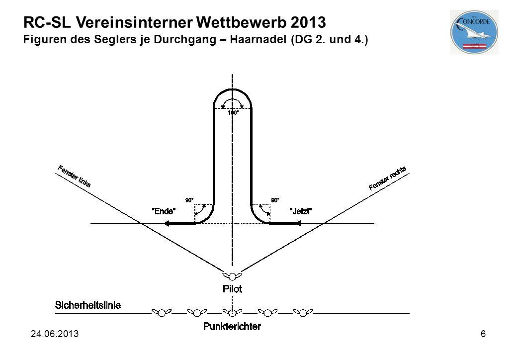 RC-SL Vereinsinterner Wettbewerb 2013 Figuren des Seglers je Durchgang – Haarnadel (DG 2. und 4.)