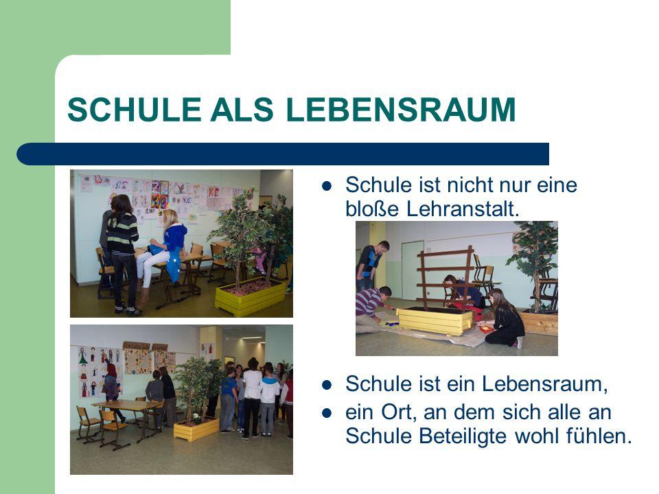 SCHULE ALS LEBENSRAUM Schule ist nicht nur eine bloße Lehranstalt.