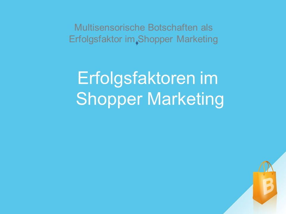 Erfolgsfaktoren im Shopper Marketing