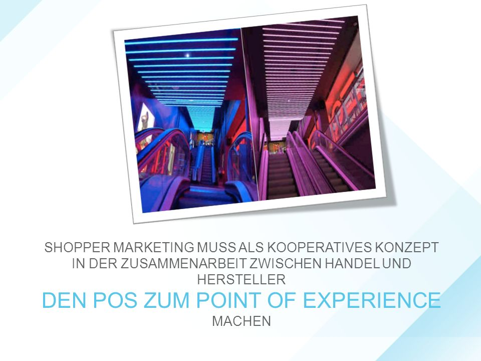 DEN POS ZUM POINT OF EXPERIENCE MACHEN
