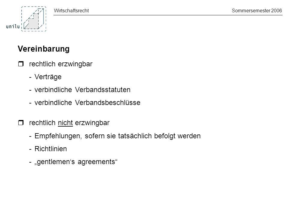 Vereinbarung  rechtlich erzwingbar - Verträge