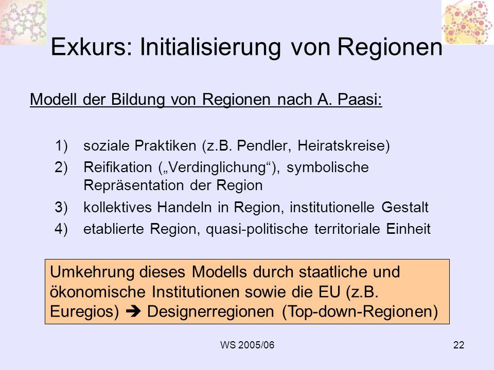 Exkurs: Initialisierung von Regionen