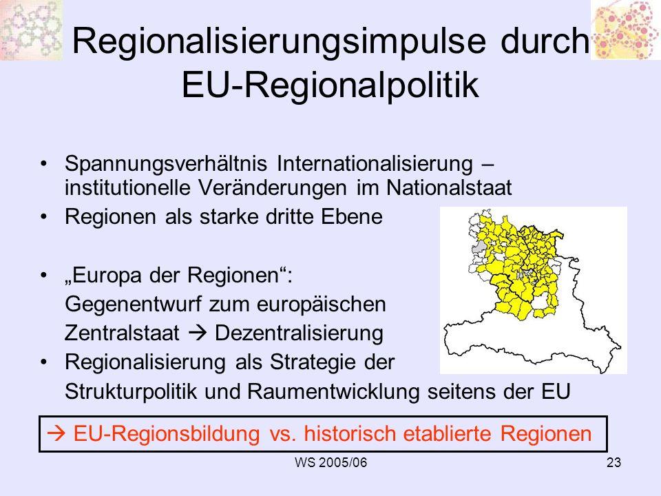 Regionalisierungsimpulse durch EU-Regionalpolitik