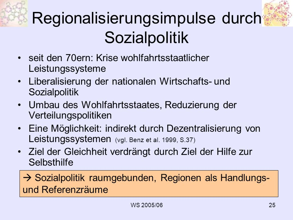 Regionalisierungsimpulse durch Sozialpolitik