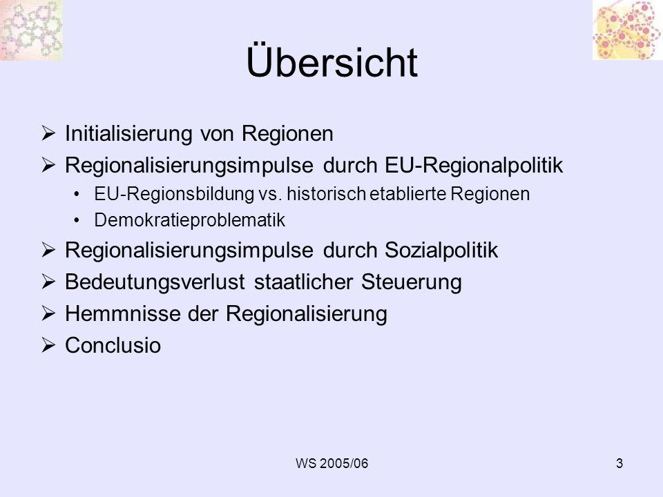 Übersicht Initialisierung von Regionen