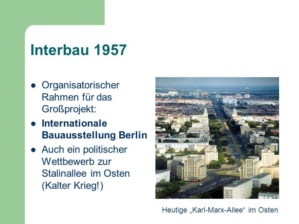 Interbau 1957 Organisatorischer Rahmen für das Großprojekt: