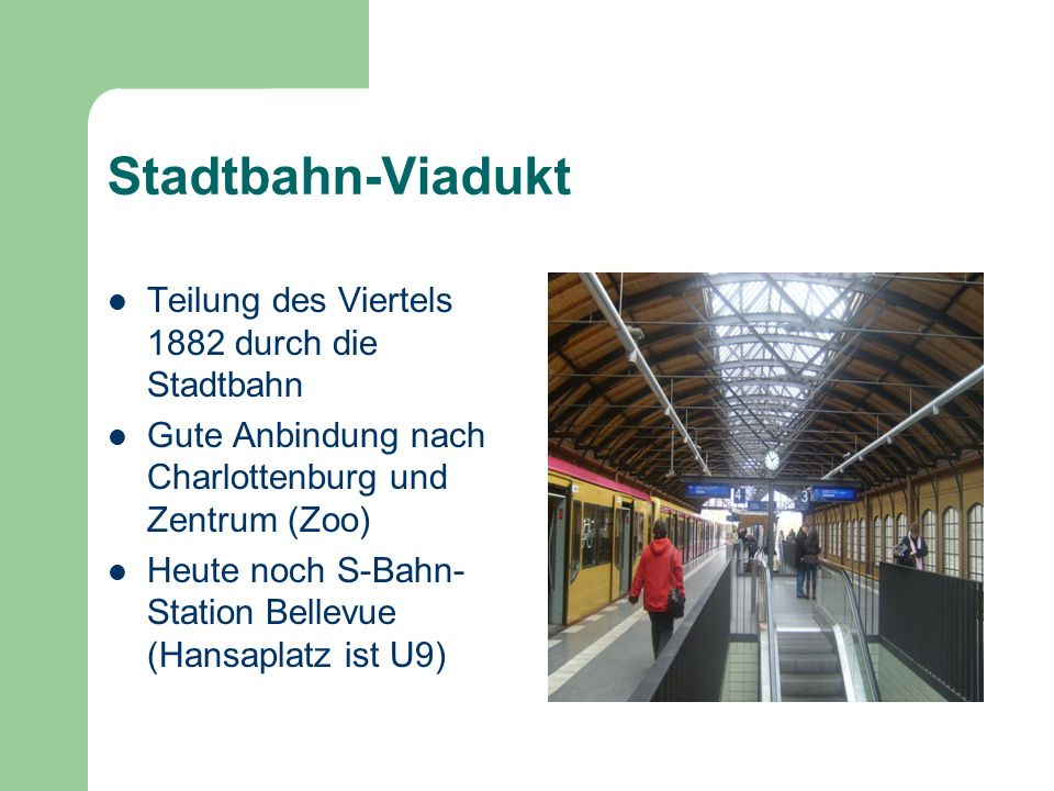 Stadtbahn-Viadukt Teilung des Viertels 1882 durch die Stadtbahn