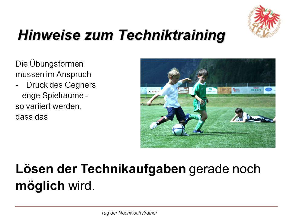 Hinweise zum Techniktraining