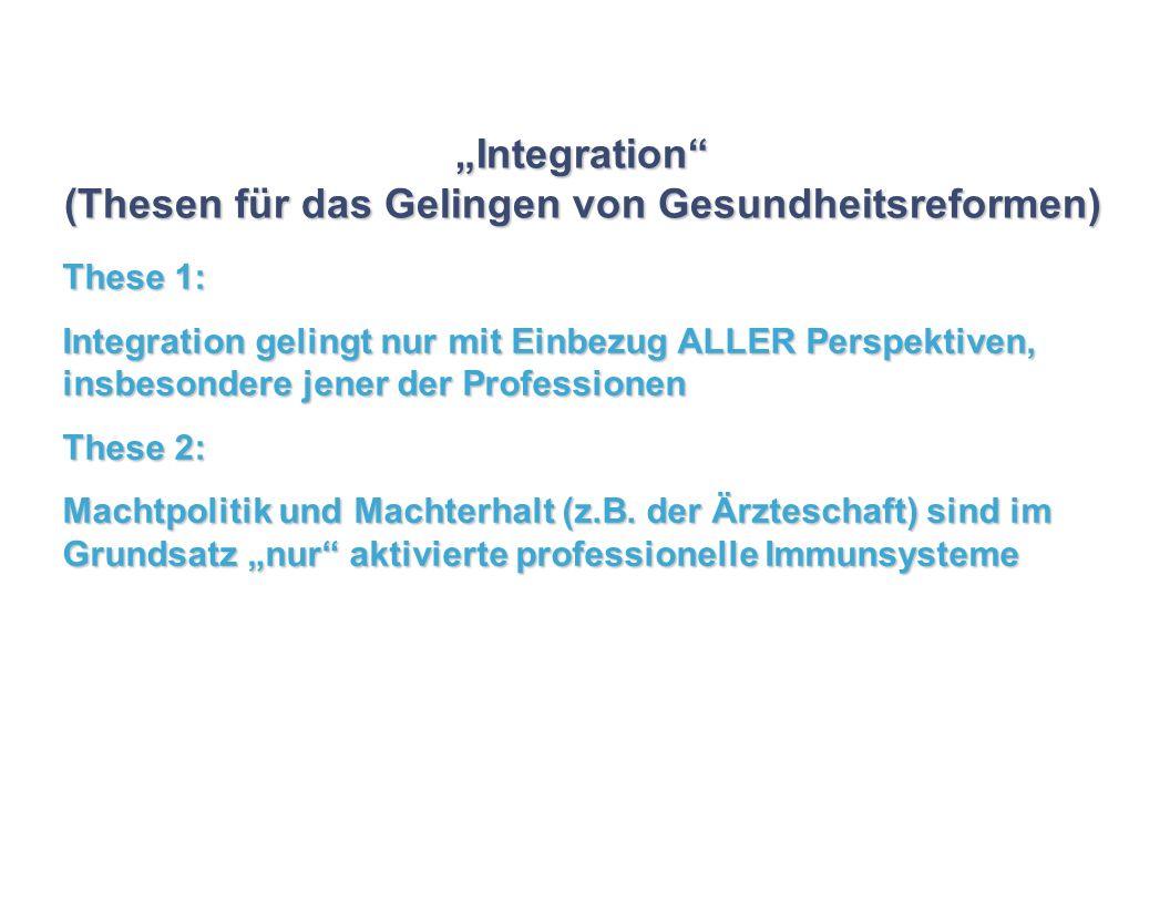"""""""Integration (Thesen für das Gelingen von Gesundheitsreformen)"""