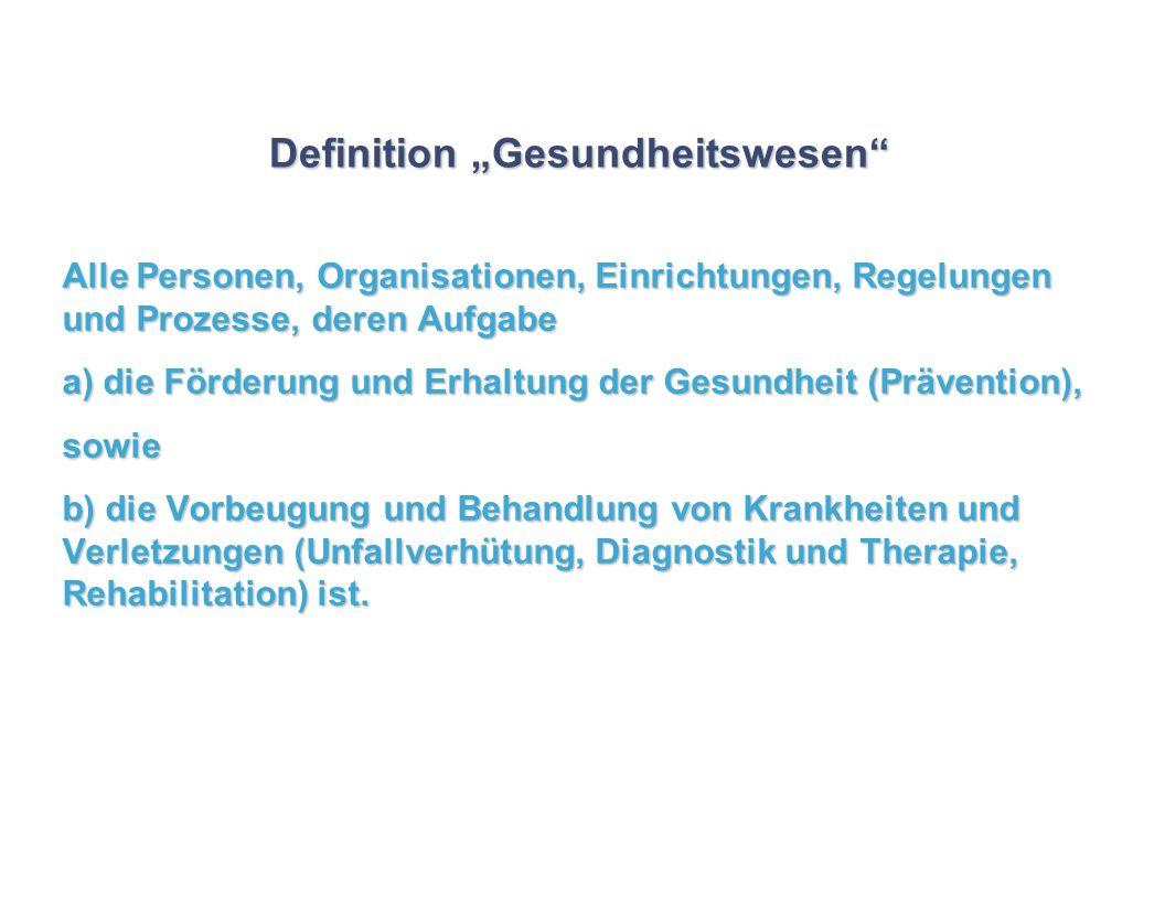 """Definition """"Gesundheitswesen"""