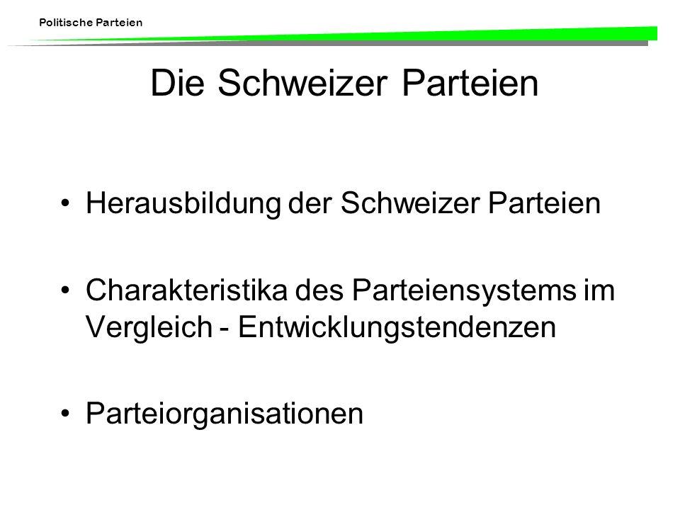 Die Schweizer Parteien