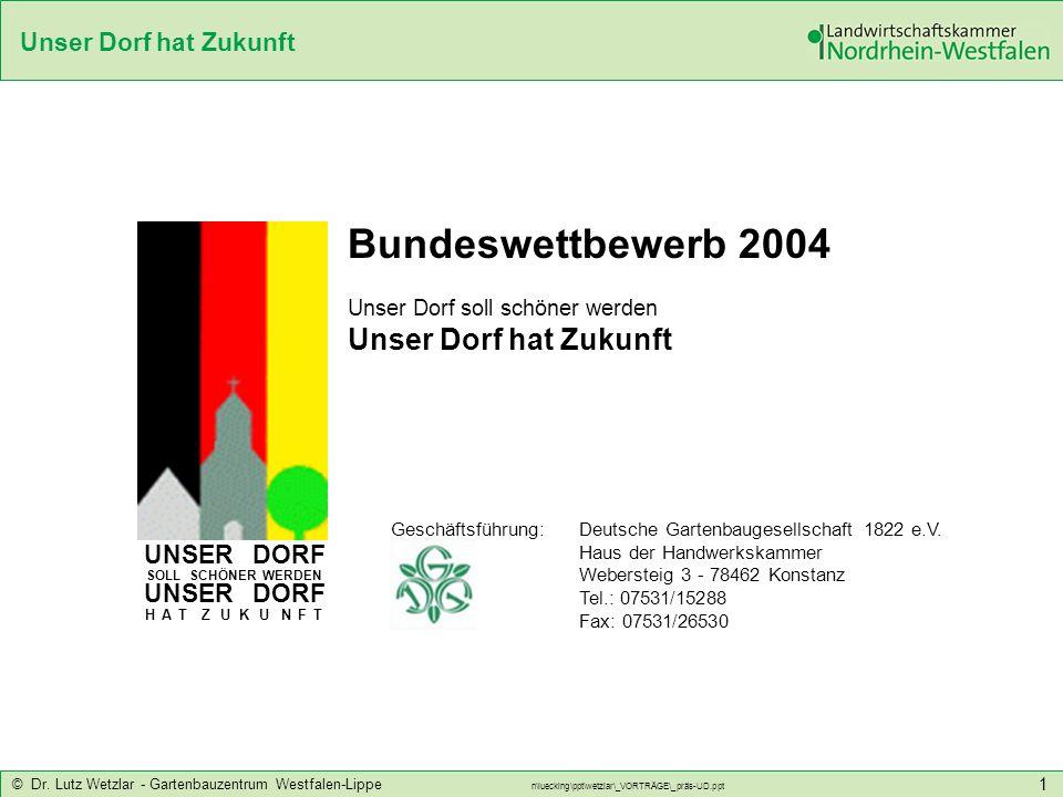 Bundeswettbewerb 2004 Unser Dorf hat Zukunft UNSER DORF