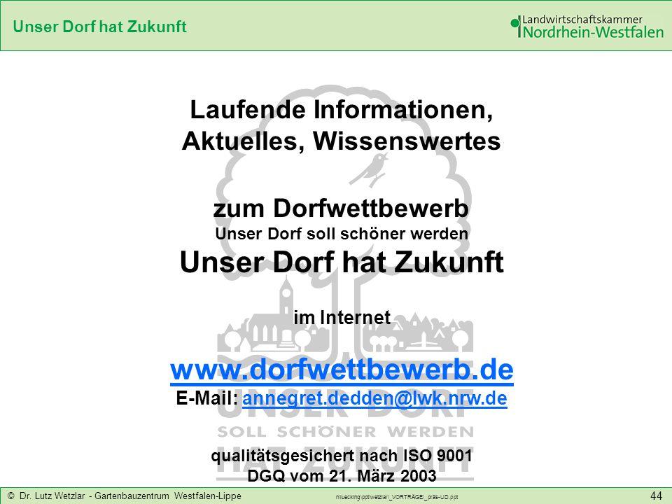 Unser Dorf hat Zukunft www.dorfwettbewerb.de