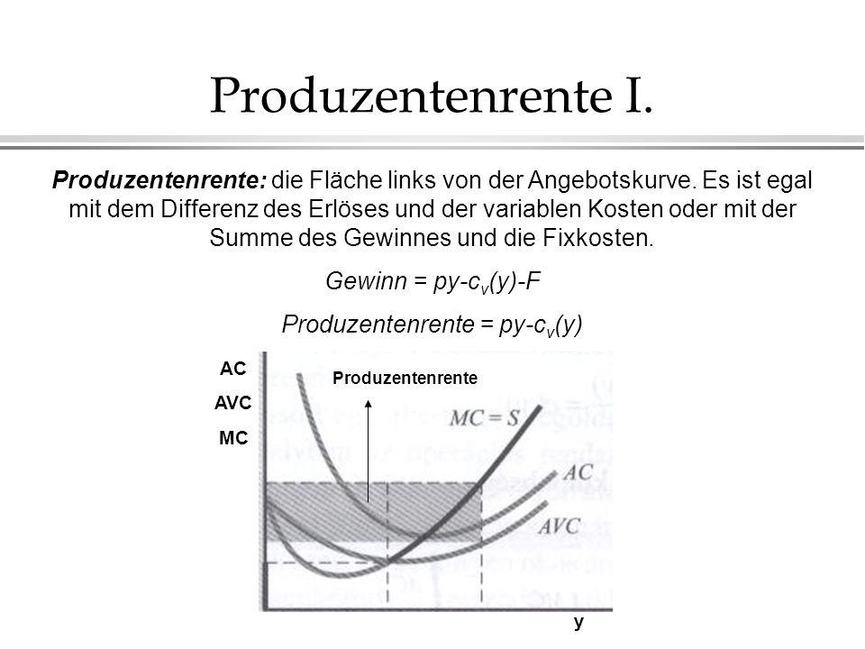 Produzentenrente = py-cv(y)