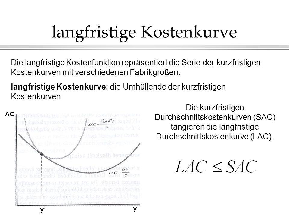 langfristige Kostenkurve