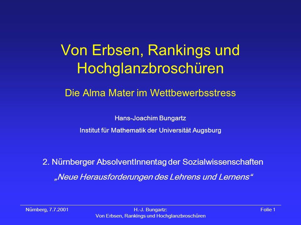 Von Erbsen, Rankings und Hochglanzbroschüren