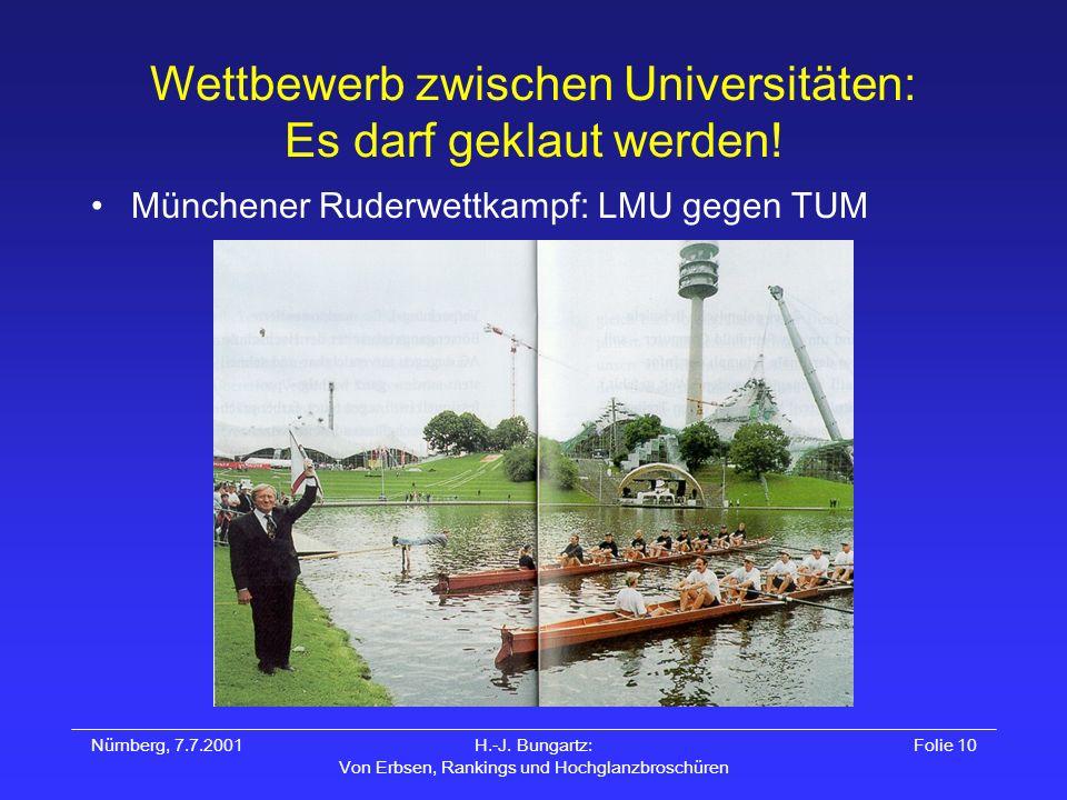 Wettbewerb zwischen Universitäten: Es darf geklaut werden!