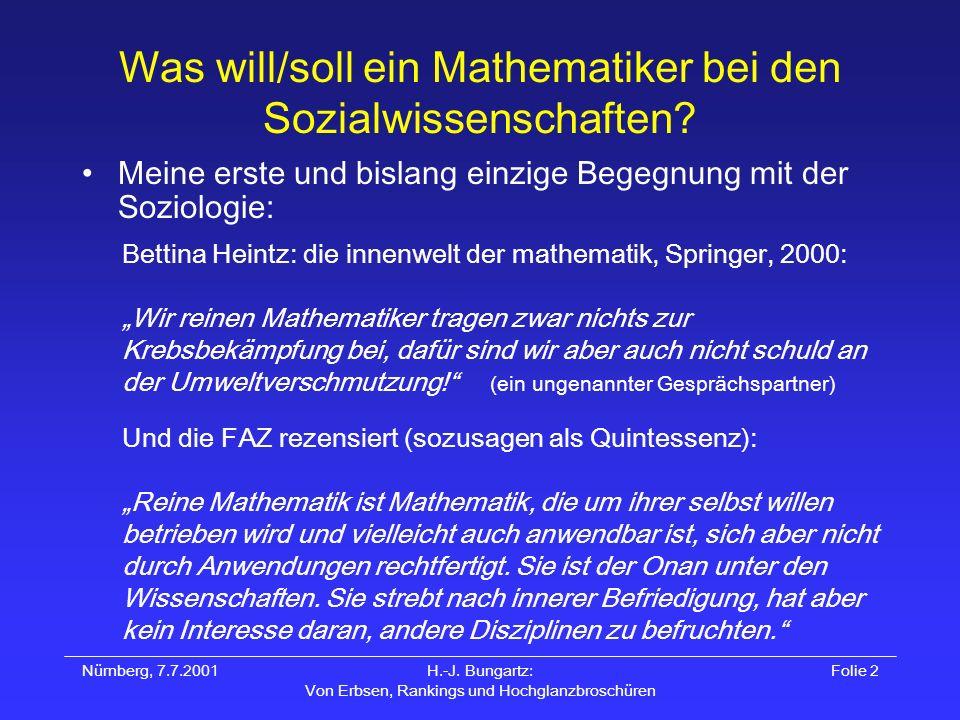 Was will/soll ein Mathematiker bei den Sozialwissenschaften