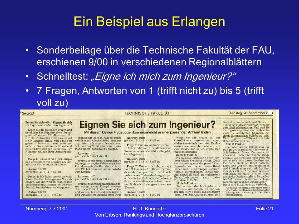 Ein Beispiel aus Erlangen