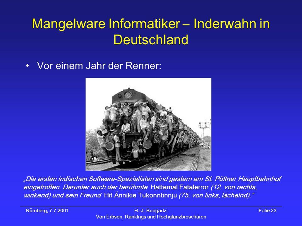 Mangelware Informatiker – Inderwahn in Deutschland