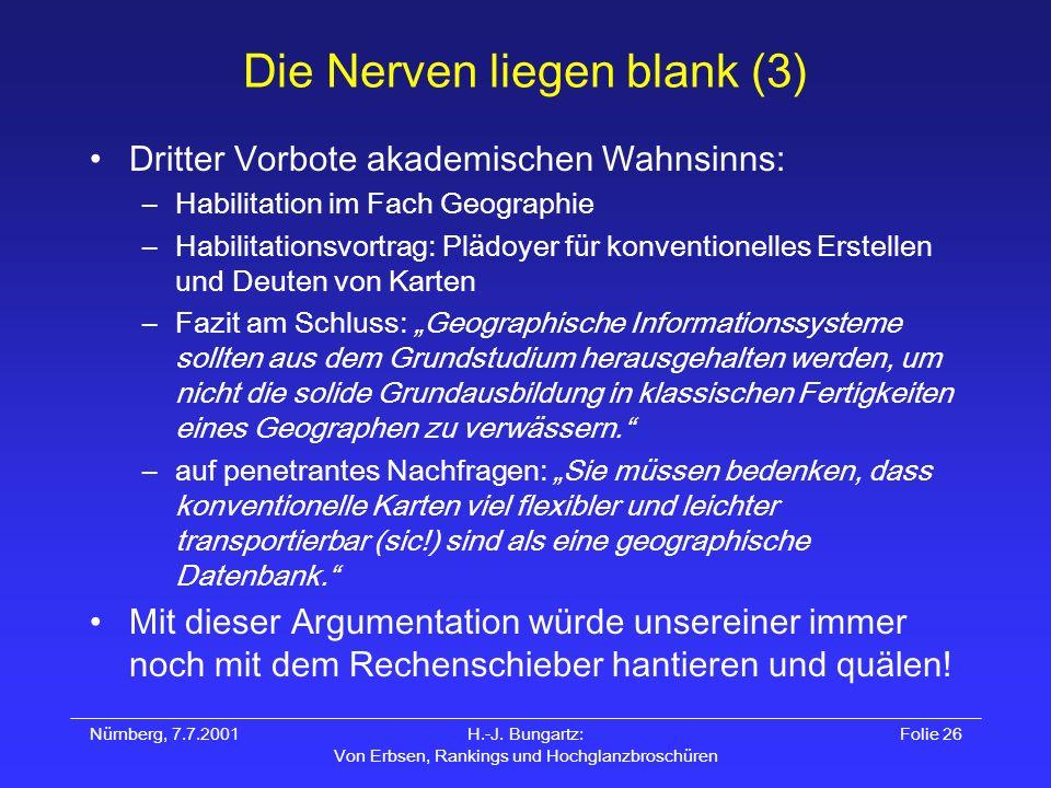 Die Nerven liegen blank (3)
