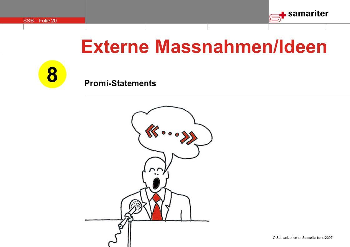 Externe Massnahmen/Ideen