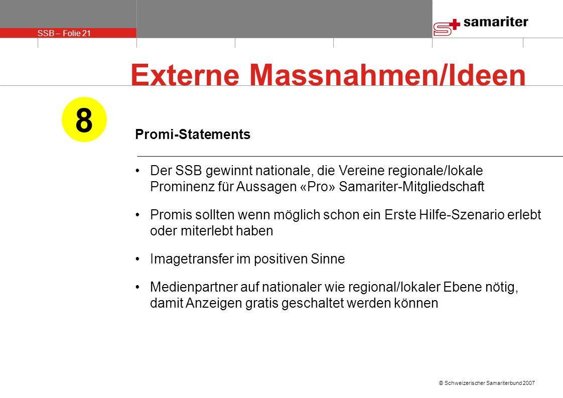 8 Externe Massnahmen/Ideen Promi-Statements