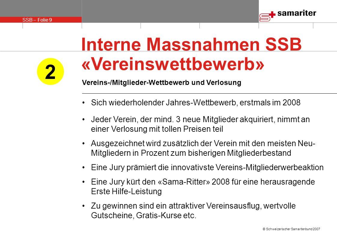 2 Interne Massnahmen SSB «Vereinswettbewerb»